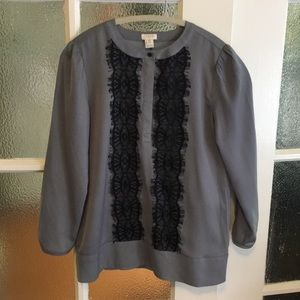 J. Crew shirt with lace detail